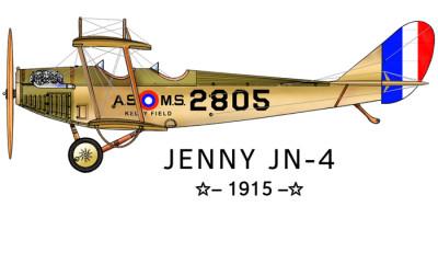 Jenny JN-4 Design: Front Left Chest