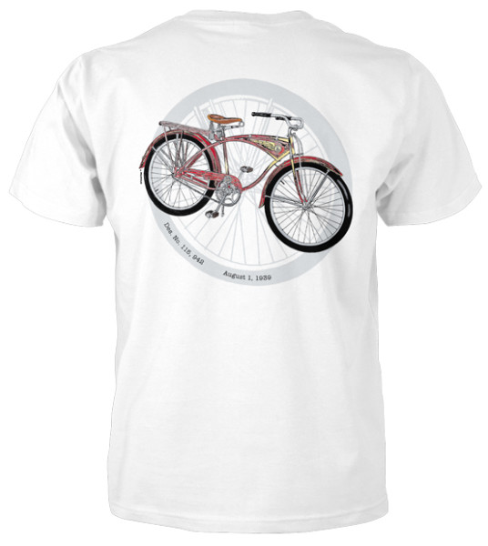 Schwinn Fat Tire White T-Shirt
