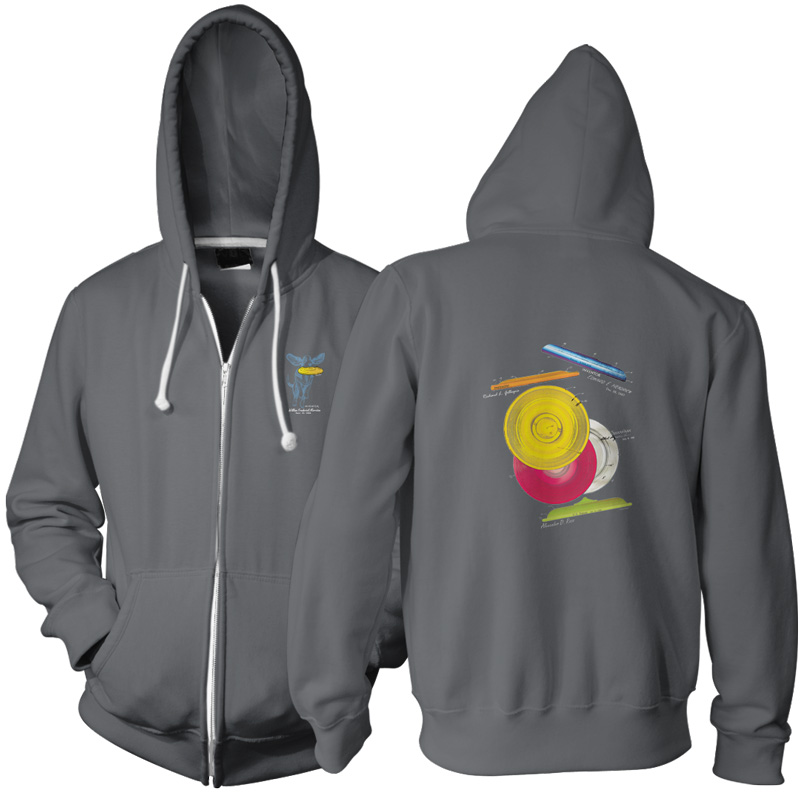 Frisbie MS-Color Zip Hoodie CHARCOAL