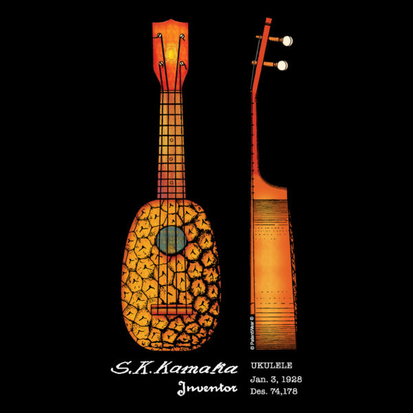 Pineapple Ukulele Design on Darks