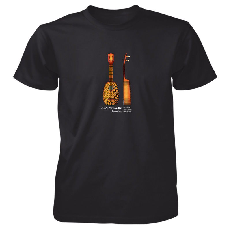 Pineapple Ukulele T-Shirt BLACK