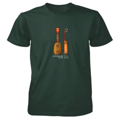 Pineapple Ukulele T-Shirt FOREST