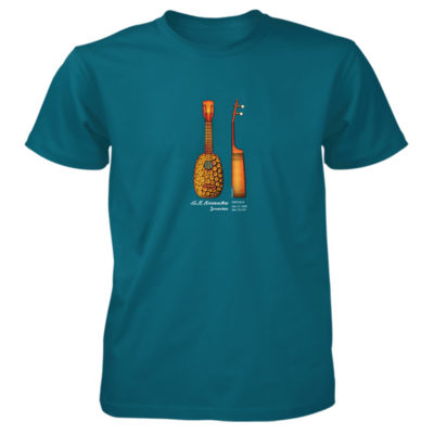 Pineapple Ukulele T-Shirt GALAPAGOS BLUE