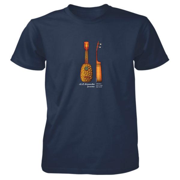 Pineapple Ukulele T-Shirt NAVY