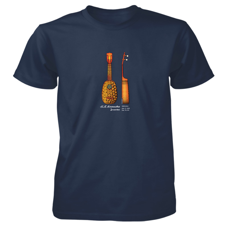 Pineapple Ukulele T-Shirt NAVY