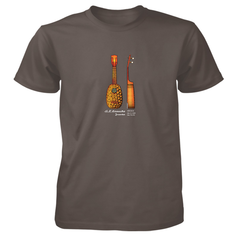 Pineapple Ukulele T-Shirt OLIVE