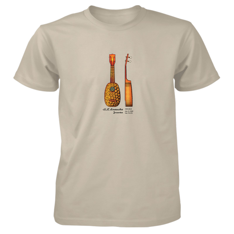 Pineapple Ukulele T-Shirt SAND