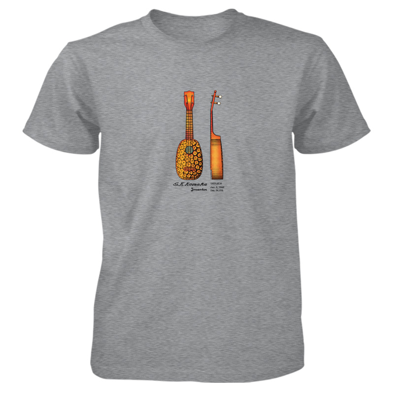 Pineapple Ukulele T-Shirt SPORT GREY