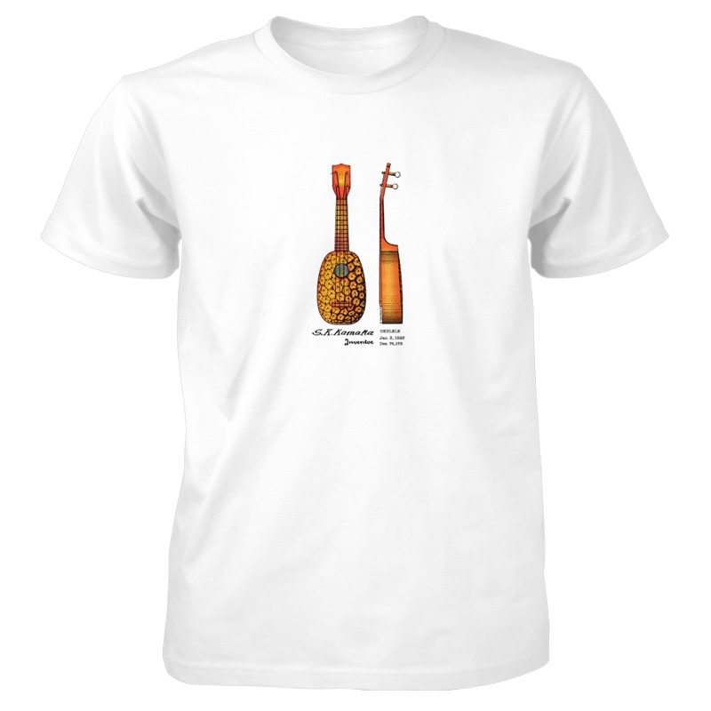 Pineapple Ukulele T-Shirt WHITE