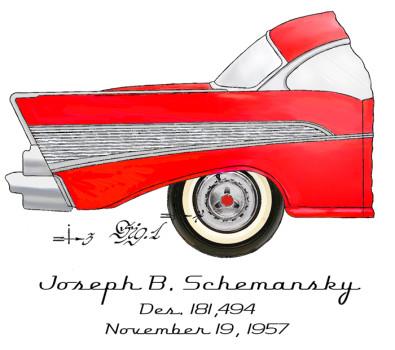 57 Chevy Design: FRONT LEFT CHEST