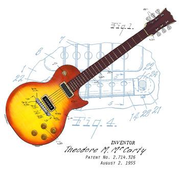 Guitar Sunburst Design: BACKS