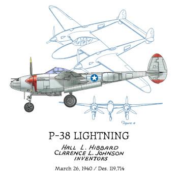 P-38 Lightning Design: BACKS