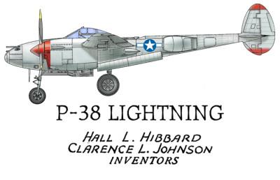 P-38 Lightning Design: FRONT LEFT CHEST
