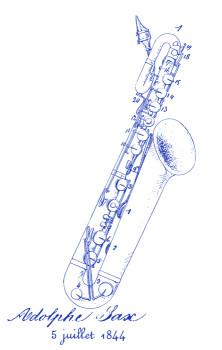 Saxophones MS Lineart Design: FRONT LEFT CHEST