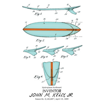 Surfboard-Kelly Design: BACKS