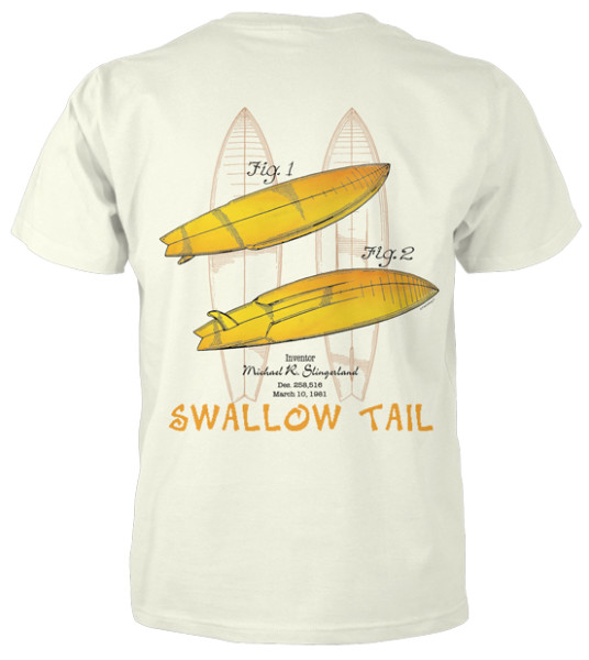 Surfboard-Swallow Tail T-Shirt