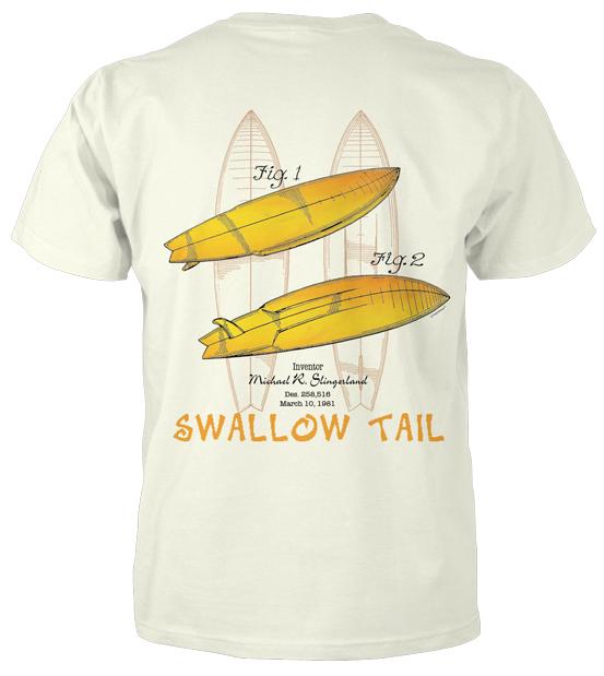 Surfboard-Swallow Tail T-Shirt