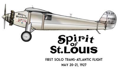 Spirit of St Louis Design: FRONT LEFT CHEST