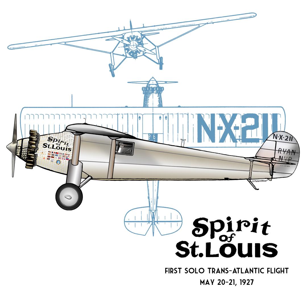 Spirit of St Louis T-Shirt – PatentWear