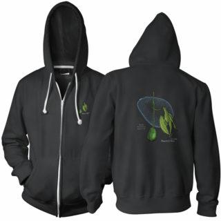 Avocado Patent Zip Hoodie