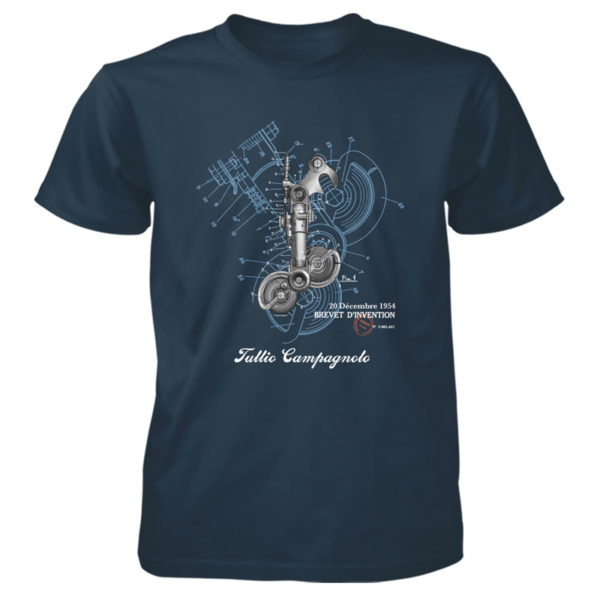 Derailleur-Campy T-Shirt BLUE DUSK