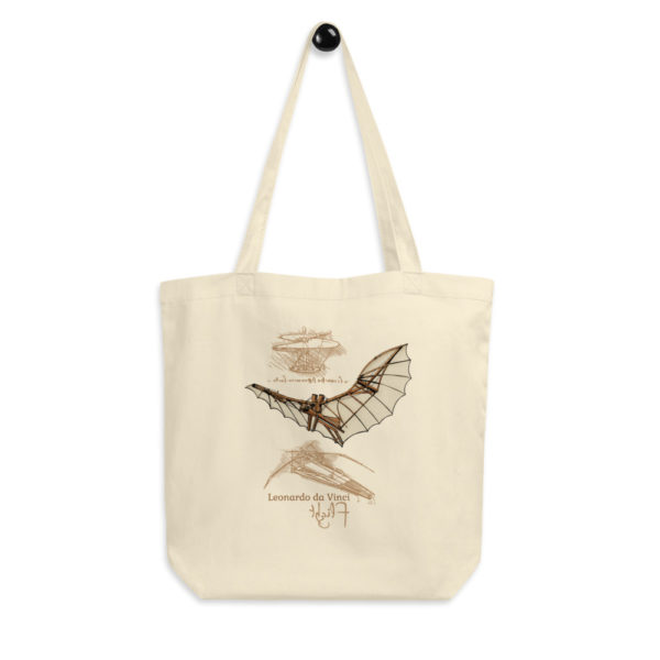 da Vinci Flight Tote Bag hanging