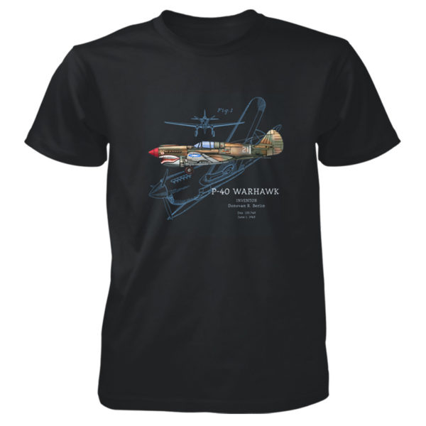 P-40-Warhawk T-Shirt BLACK
