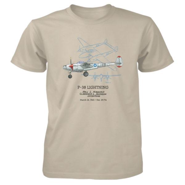 P-38 Lightning T-Shirt SAND