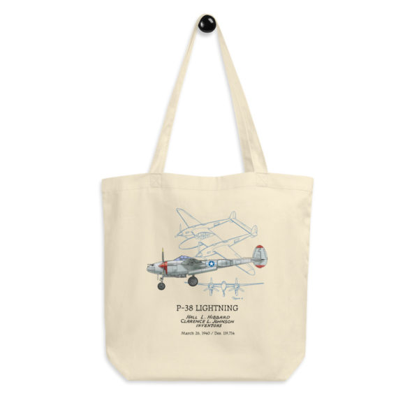 P-38 Lightning Tote Bag FRONT
