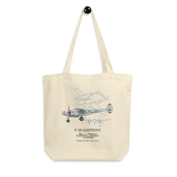 P-38 Lightning Tote Bag FRONT
