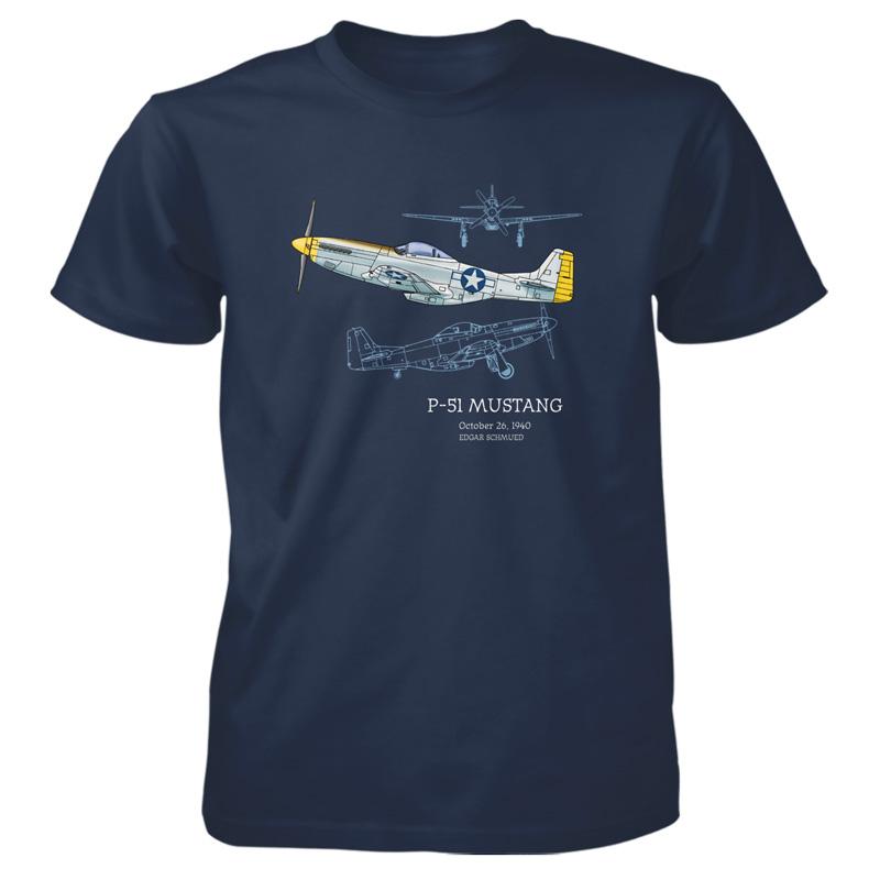 P 51 Mustang T Shirt Patentwear