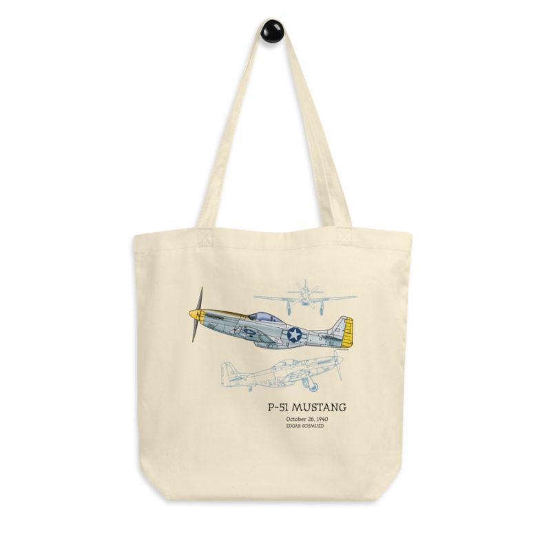 P-51 Mustang Tote Bag FRONT