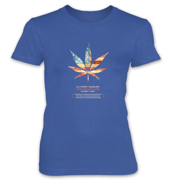 Cannabis 507 Women's T-Shirt ROYAL BLUE
