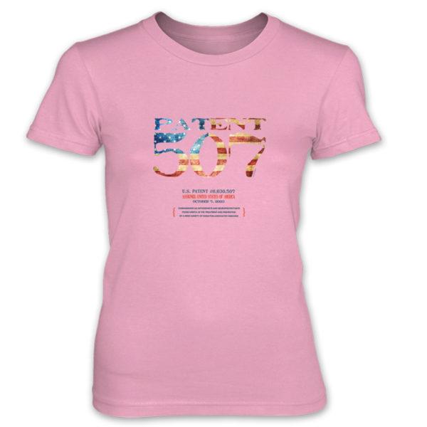 Patent 507 Women's T-Shirt CHARITY PINK