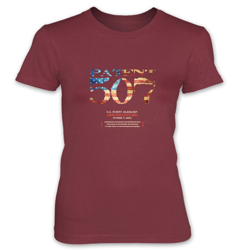 Patent 507 Women's T-Shirt INDEPENDENCE RED