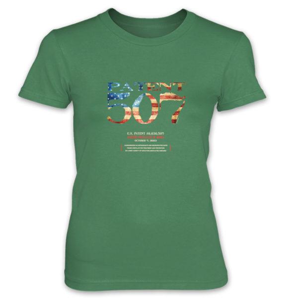 Patent 507 Women's T-Shirt KELLY GREEN
