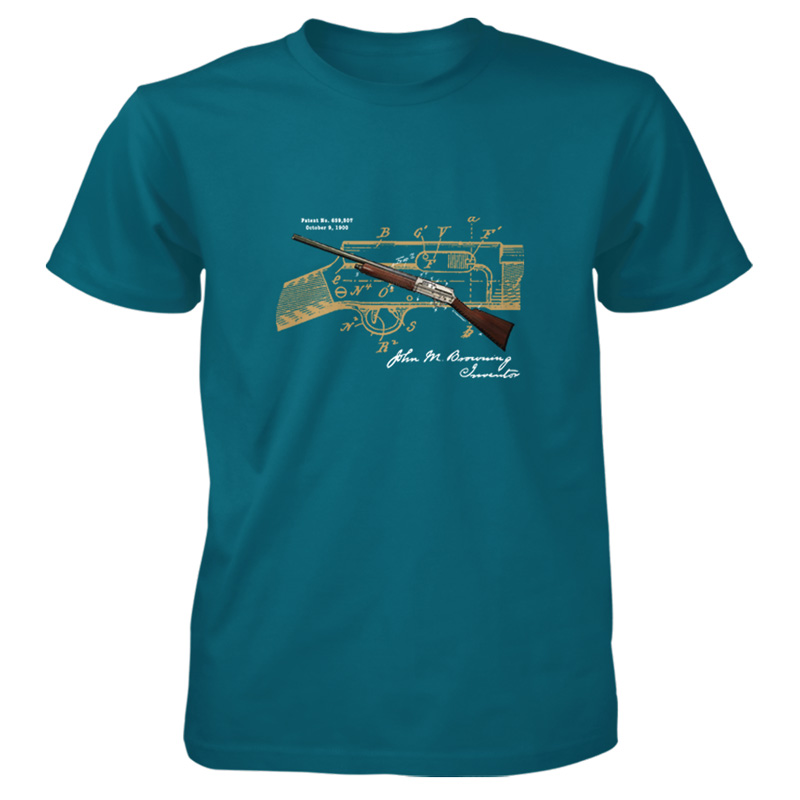 Browning auto 5 patent t shirt patentwear for How to patent a t shirt