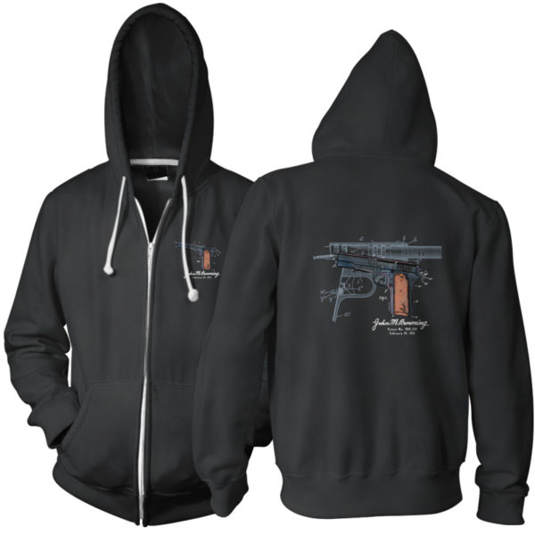 Browning Model 1911 Zip Hoodie BLACK