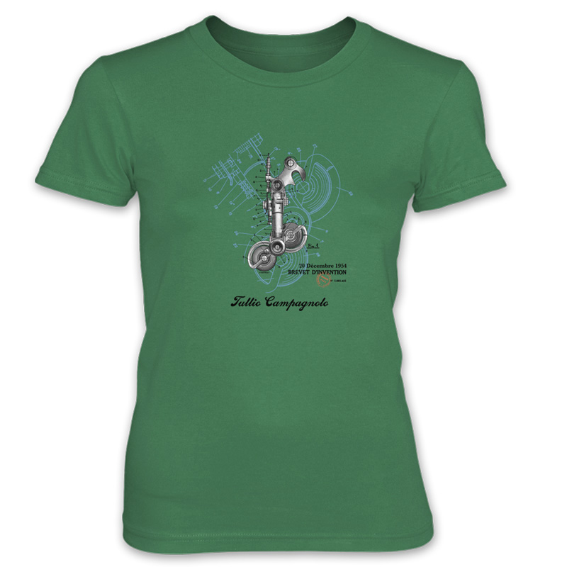 Derailleur-Campagnolo Women's T-Shirt KELLY GREEN