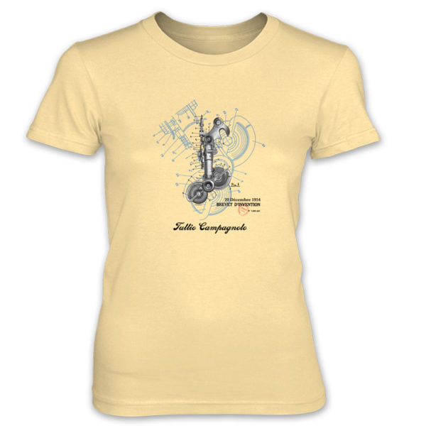 Derailleur-Campagnolo Women's T-Shirt SPRING YELLOW
