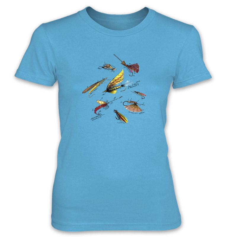 Fly Fishing Flies MS-Color Women's T-Shirt CARIBBEAN BLUE