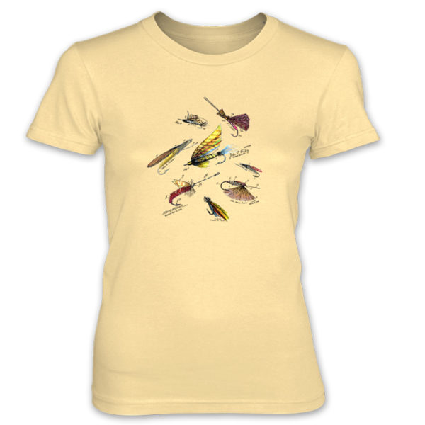Fly Fishing Flies MS-Color Women's T-Shirt SPRING YELLOW
