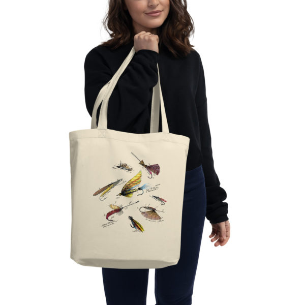 Fly Fishing Flies MS-Color Tote Bag