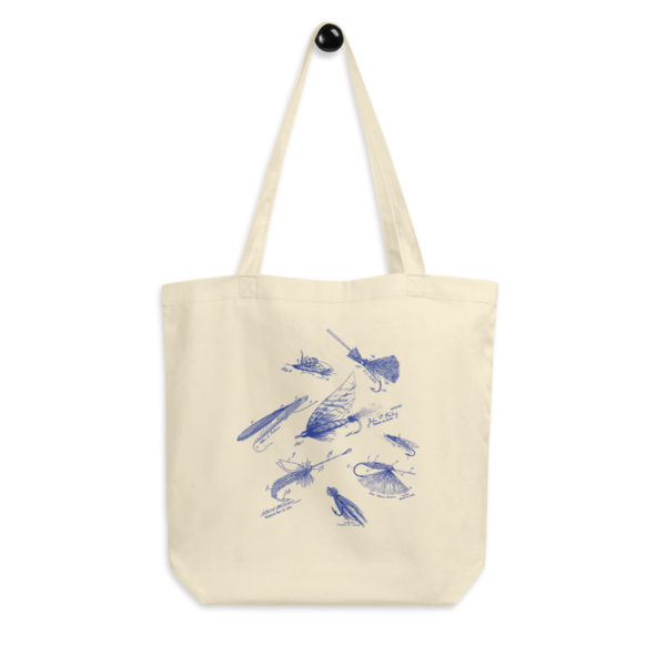 Fly Fishing Flies MS-Lineart Tote Bag FRONT