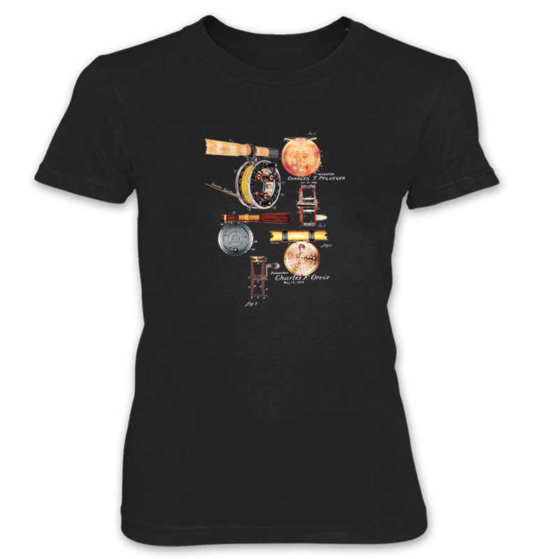 Fly Reels MS-Color Women's T-Shirt BLACK
