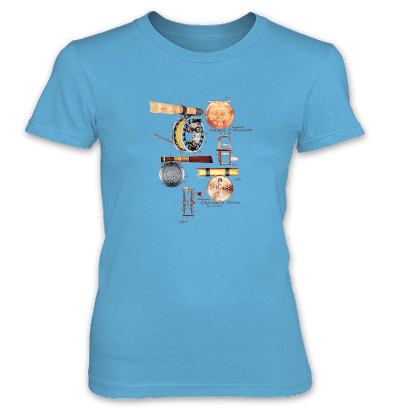 Fly Reels MS-Color Women's T-Shirt CARIBBEAN BLUE