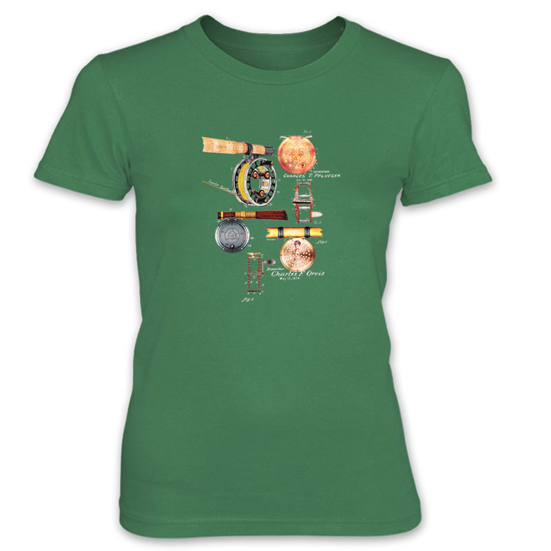 Fly Reels MS-Color Women's T-Shirt KELLY GREEN