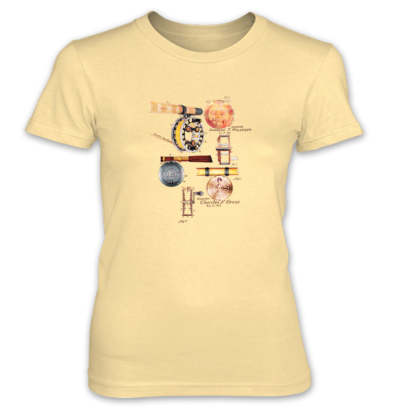 Fly Reels MS-Color Women's T-Shirt SPRING YELLOW