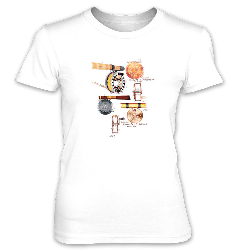 Fly Reels MS-Color Women's T-Shirt WHITE
