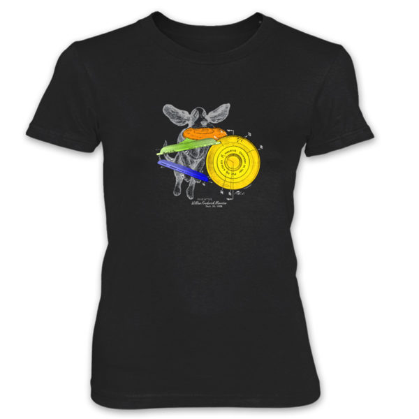 Flying Disc Women's T-Shirt BLACK